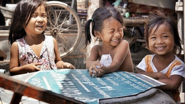 Phnom Penh slum children