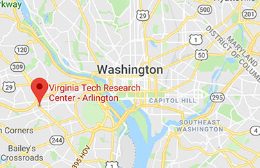 Map showing the location of VT CLiGS and the Virginia Tech Research Center